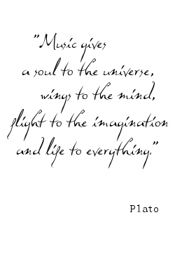 Plato, on music